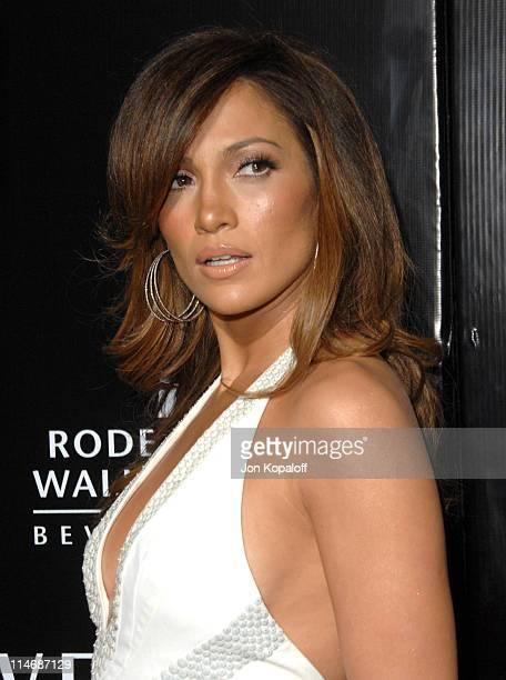 Jennifer Lopez during Gianni and Donatella Versace Receive The Rodeo Drive Walk of Style Award Arrivals at Beverly Hills City Hall in Beverly Hills...