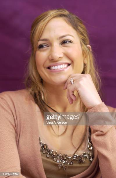 """Jennifer Lopez during """"Gigli"""" Press Conference with Jennifer Lopez, Ben Affleck and Justin Bartha in Beverly Hills, California, United States."""