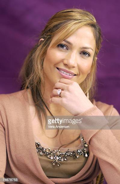 """Jennifer Lopez during """"Gigli"""" Press Conference with Jennifer Lopez, Ben Affleck and Justin Bartha in Beverly Hills, California."""