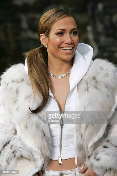 Jennifer Lopez during Jennifer Lopez and Fat Joe Shoot Hold You Down at Streets of New York City in New York City New York United States