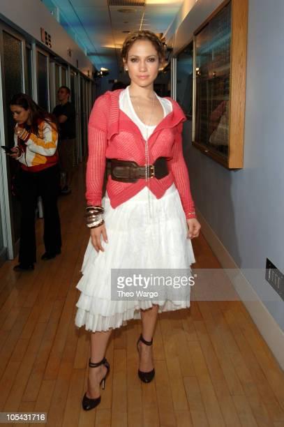 "Jennifer Lopez during Jennifer Lopez and Hayden Christensen Visit MTV's ""TRL"" - May 2, 2005 at MTV Studios, Times Square in New York City, New York,..."
