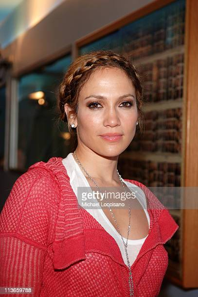 Jennifer Lopez during Jennifer Lopez and Hayden Christensen Visit MTV's 'TRL' May 2 2005 at MTV Studios in New York City New York United States