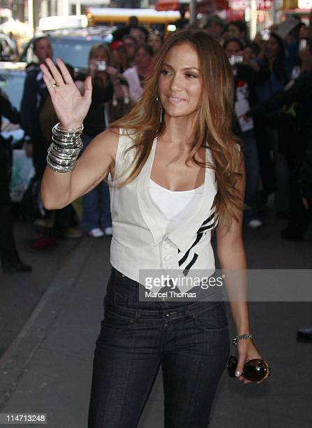 Jennifer Lopez during Jennifer Lopez and Marc Anthony Sighting at MTV Times Square Studios in New York City March 27 2007 at MTV Times Square Studios...