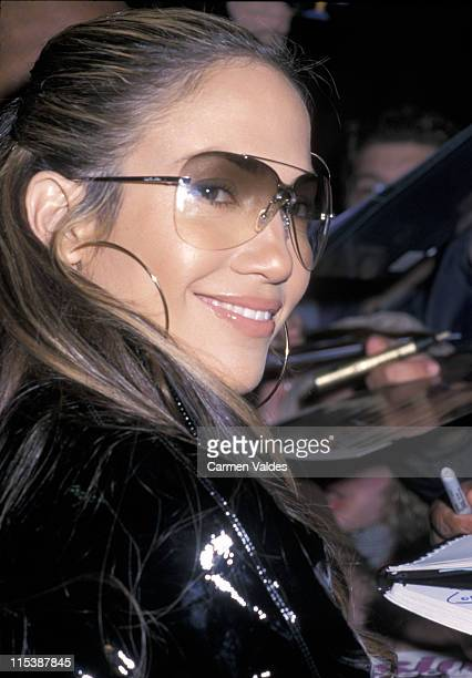 Jennifer Lopez during Jennifer Lopez and Matchbox 20 Leaving the 'Late Show with David Letterman' February 6 2001 at Ed Sullivan Theater in New York...