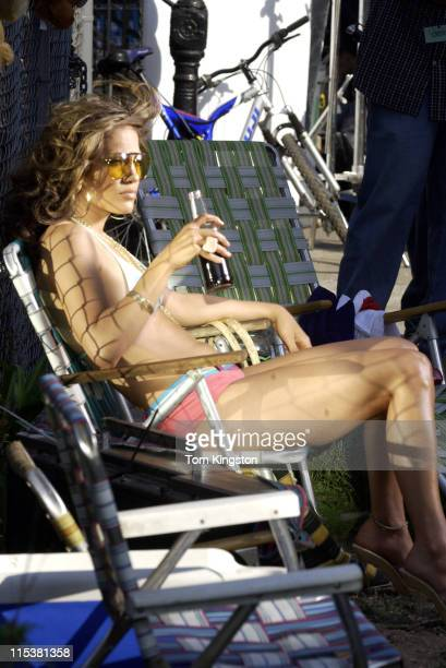 Jennifer Lopez during Jennifer Lopez Filming I'm Gonna Be Alright Music Video in Harlem New York City at 119th Street Manhattan in New York City New...