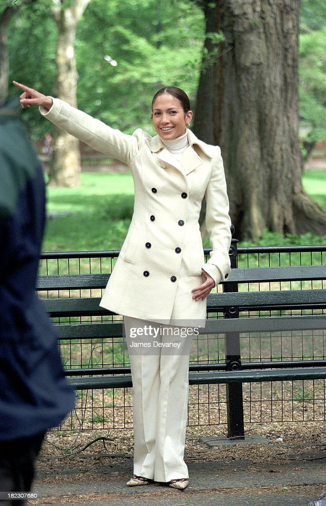Jennifer Lopez during Jennifer Lopez on Location for Maid in Manhattan at Streets of New York City in New York City, New York, United States.