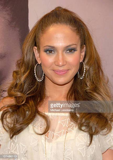 Jennifer Lopez during Jennifer Lopez Visits FYE for the Release of Her First Spanish Album 'Como Ama Una Mujer' Inside at FYE Jerome Avenue in New...