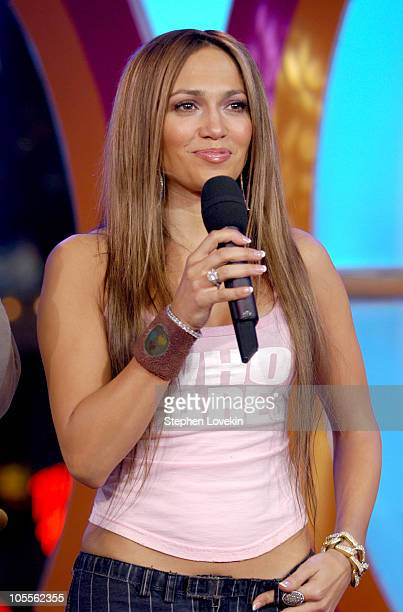Jennifer Lopez during Jennifer Lopez Visits MTV's 'TRL' January 19 2005 at MTV Studios in New York City New York United States