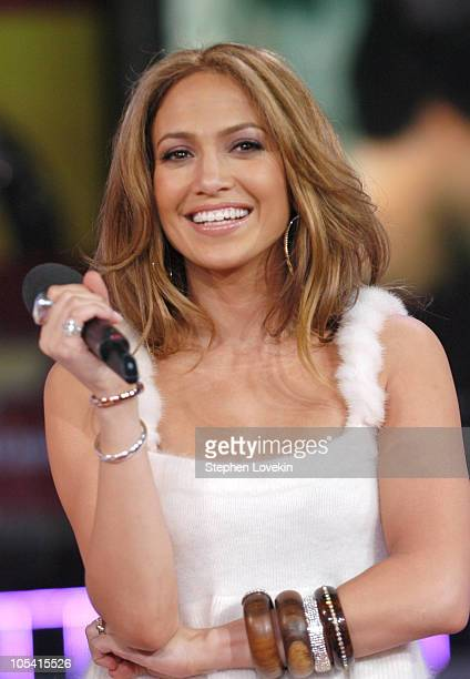 Jennifer Lopez during Jennifer Lopez Visits MTV's 'TRL' March 1 2005 at MTV Studios Times Square in New York City New York United States