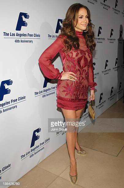 Jennifer Lopez during Los Angeles Free Clinic Annual Dinner Gala Honoring Paramount Pictures Corporation Chairman and CEO Brad Grey - Red Carpet at...