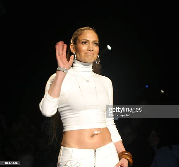 Jennifer Lopez during Olympus Fashion Week Fall 2005 Sweetface by Jennifer Lopez and Andy Hilfiger Front Row at The Tent Bryant Park in New York City...