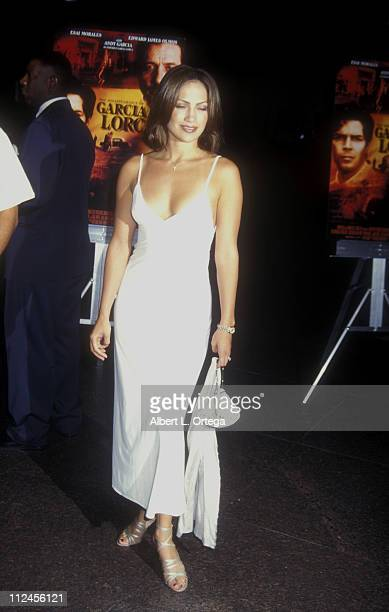 Jennifer Lopez during Premiere of The Disappearence Of Garcia Lorca at The Director's Guild Of America in West Hollywood California United States