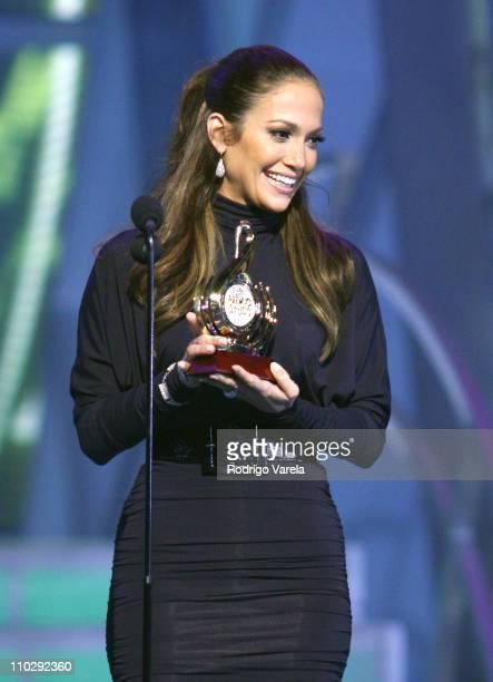 Jennifer Lopez during Premio Lo Nuestro a la Musica Latina 2007 Show at American Airlines Arena in Miami Florida United States