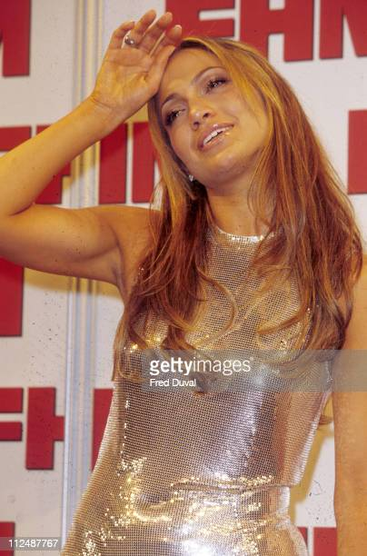 Jennifer Lopez during The 2001 FHM's Sexiest Women of the Year Awards at Fashion Cafe in London Great Britain
