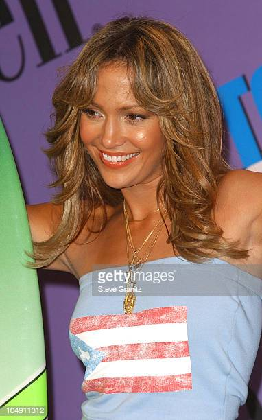 Jennifer Lopez during The 2001 Teen Choice Awards Press Room at Universal Amphitheater in Universal City California United States