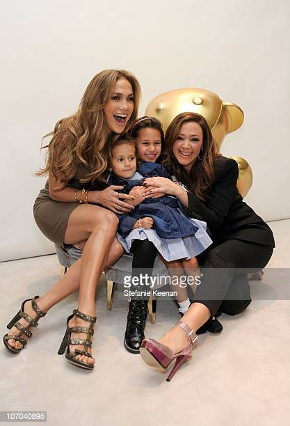 Jennifer Lopez Emme Anthony Sofia Bella Pagan and Leah Remini attend the Gucci Children's Collection event on November 20 2010 in Beverly Hills...