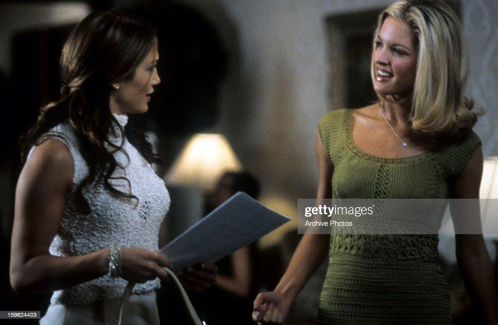 Jennifer Lopez Encounters Bridgette Wilson Sampras In A Scene From The Film Wedding Planner