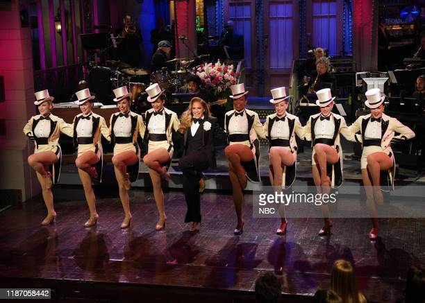 LIVE Jennifer Lopez Episode 1775 Pictured Host Jennifer Lopez with The Rockettes during the Monologue on Saturday December 7 2019