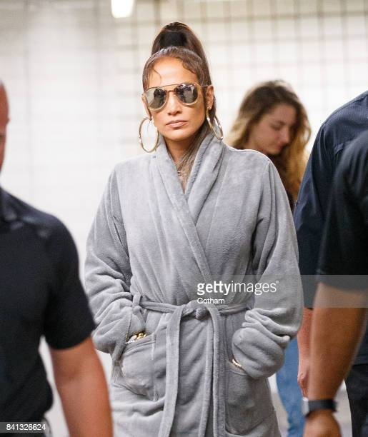 Jennifer Lopez films a music video in the subway on August 31 2017 in New York City