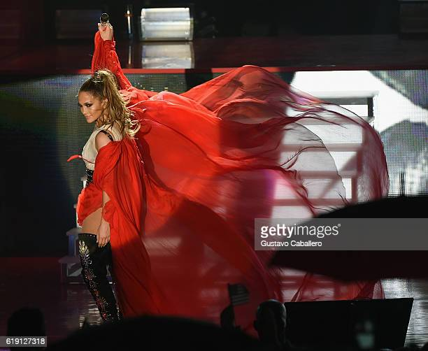Jennifer Lopez gets loud for Hillary Clinton at Get Out The Vote concert on October 29 2016 in Miami Florida