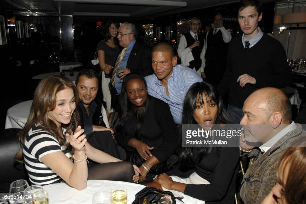 Jennifer Lopez guest Pat McGrath Andrew Nodell Naomi Campbell and Christian Louboutin attend Le Caprice Preview Dinner at Le Caprice on October 21...