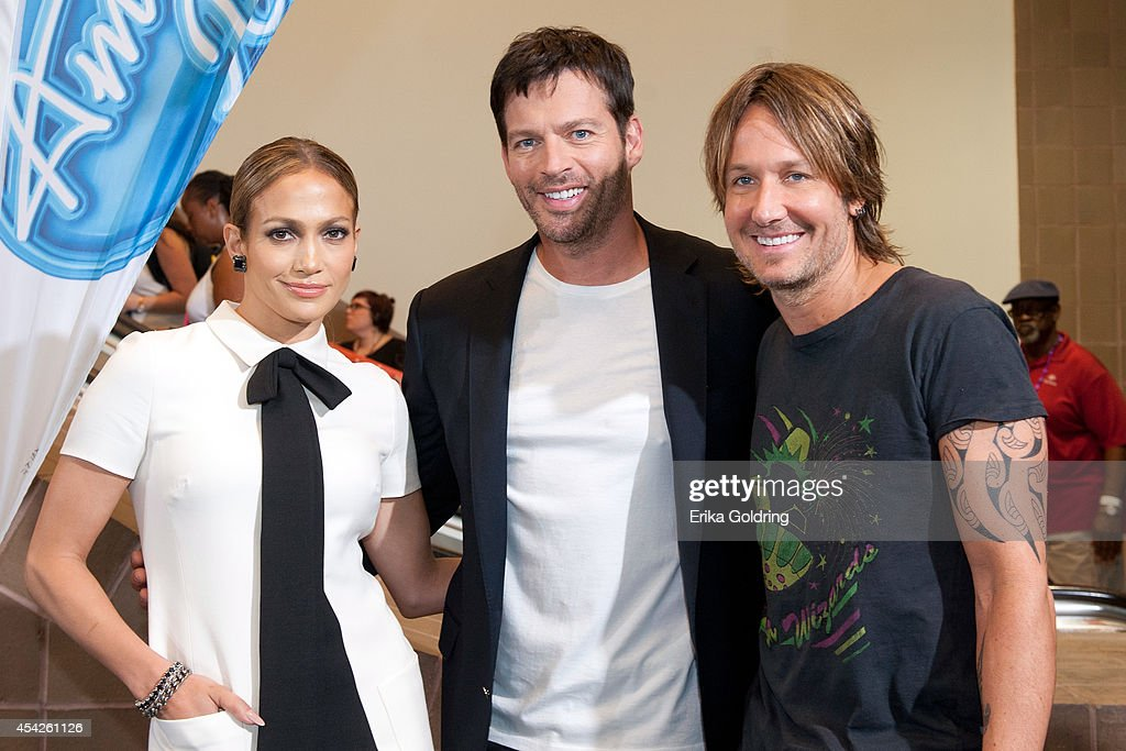 Jennifer Lopez, Harry Connick, Jr. and Keith Urban arrive at the Ernest N. Morial Convention Center on August 27, 2014 in New Orleans, Louisiana.