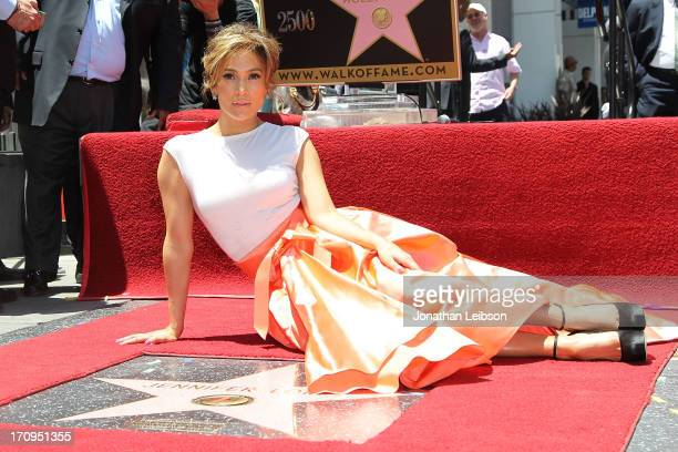 Jennifer Lopez honored with 2500th star on the Hollywood Walk Of Fame on June 20 2013 in Hollywood California
