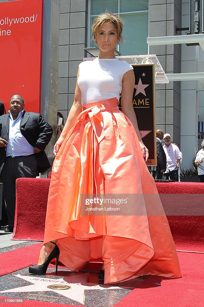 Jennifer Lopez Honored With 2,500th Star On The Hollywood Walk Of Fame : News Photo