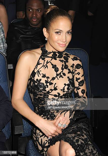 Jennifer Lopez in the audience at the 2011 American Music Awards at the Nokia Theatre L.A. LIVE on November 20, 2011 in Los Angeles, California.