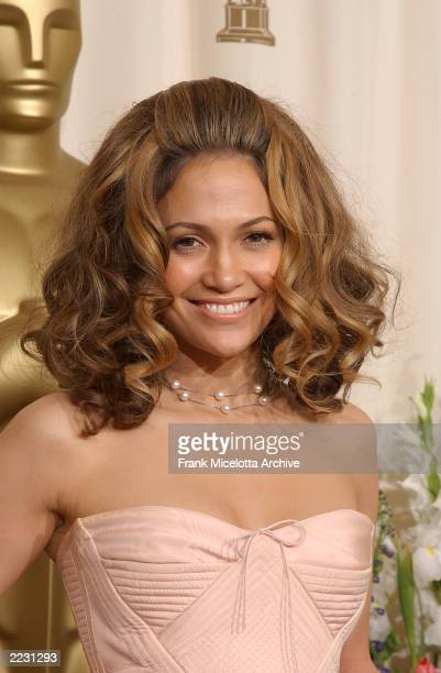 Jennifer Lopez in the pressroom at the 74th Annual Academy Awards at the Kodak Theatre in Hollywood Sunday March 24 2002 Photo by Frank...