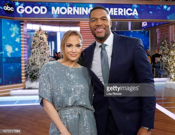 AMERICA Jennifer Lopez is a guest on 'Good Morning America' on Wednesday December 12 airing on the ABC Television Network JENNIFER