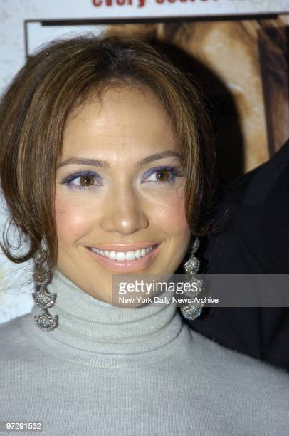 Jennifer Lopez is on hand for the premiere of An Unfinished Life at the Directors Guild of America Theatre on W 57th St She stars in the film