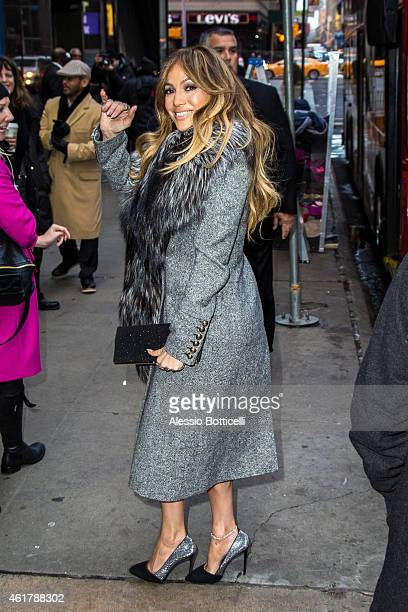 Jennifer Lopez is seen arriving at 'Good Morning America' on January 19 2015 in New York City