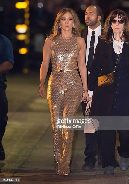 Jennifer Lopez is seen at 'Jimmy Kimmel Live' on January 04 2016 in Los Angeles California