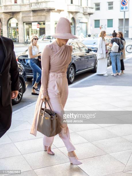 Jennifer Lopez is seen during the Milan Fashion Week Spring/Summer 2020 on September 19, 2019 in Milan, Italy.