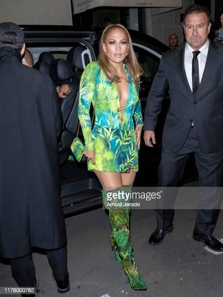 Jennifer Lopez is seen during the Milan Fashion Week Spring/Summer 2020 on September 20, 2019 in Milan, Italy.