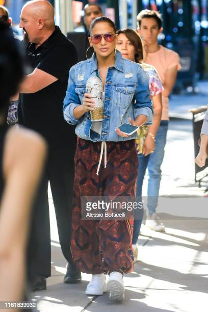 Jennifer Lopez is seen heading to Madison Square Garden on July 13, 2019 in New York City.