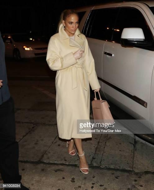 Jennifer Lopez is seen on April 1 2018 in Los Angeles California