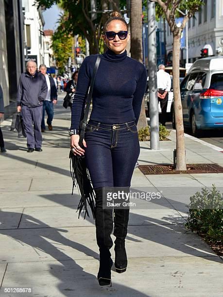 Jennifer Lopez is seen on December 13 2015 in Los Angeles California