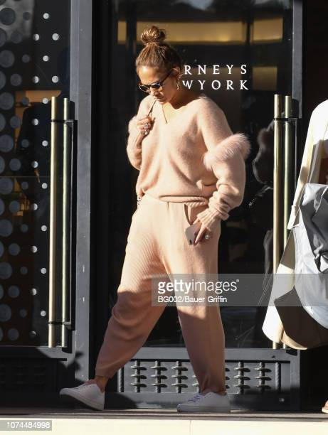 Jennifer Lopez is seen on December 20, 2018 in Los Angeles, California.