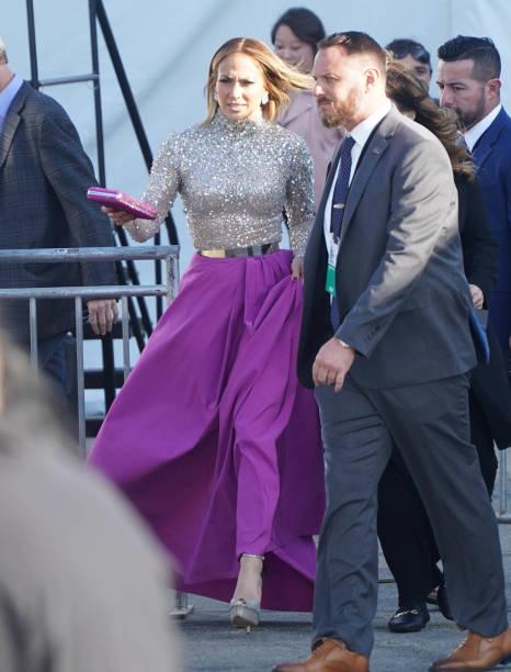 Jennifer Lopez is seen on February 8 2020 in Los Angeles California