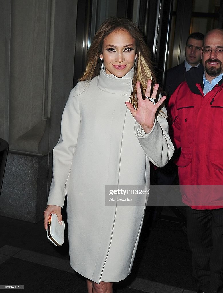 Jennifer Lopez is seen on January 23, 2013 in New York City.