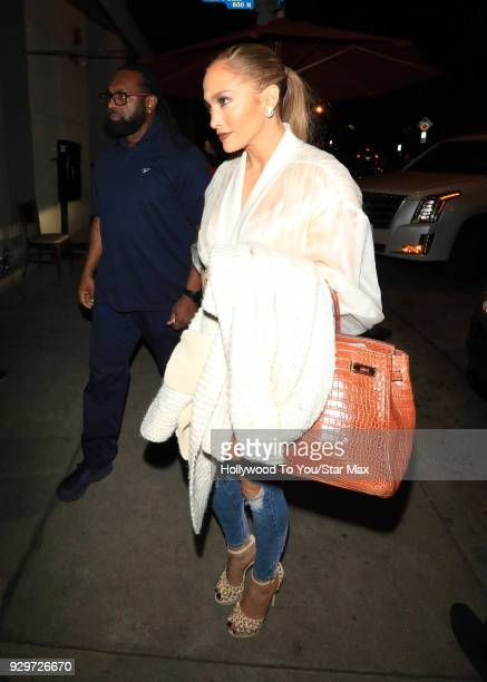 Jennifer Lopez is seen on March 8 2018 in Los Angeles California