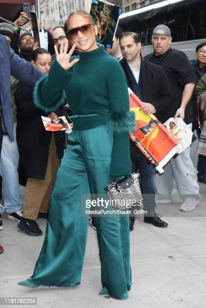 Jennifer Lopez is seen on November 11, 2019 in New York City.