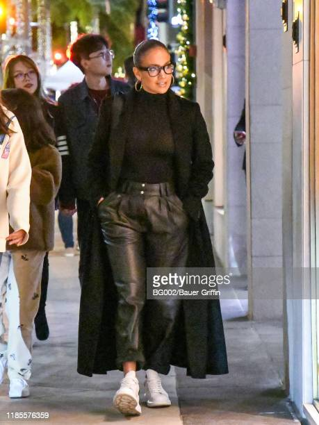 Jennifer Lopez is seen on November 29, 2019 in Los Angeles, California.
