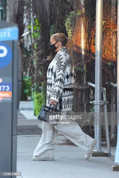 Jennifer Lopez is seen on September 8 2020 in New York City