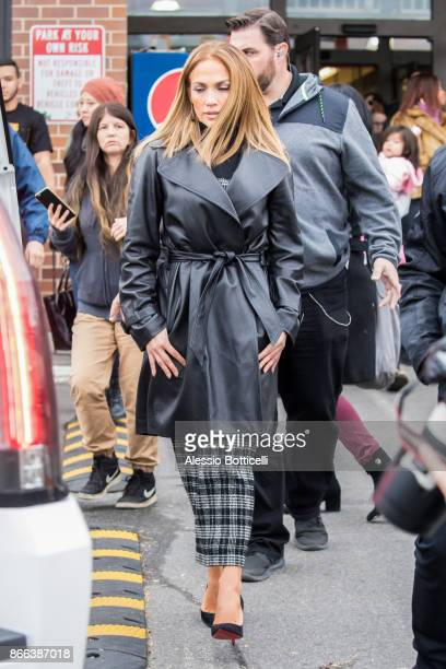 Jennifer Lopez is seen on set of 'Second Act' on October 25 2017 in New York New York