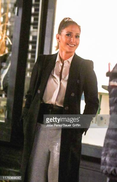Jennifer Lopez is seen on the film set of the 'Marry Me' in Red Hook Brooklyn on October 11 2019 in New York City
