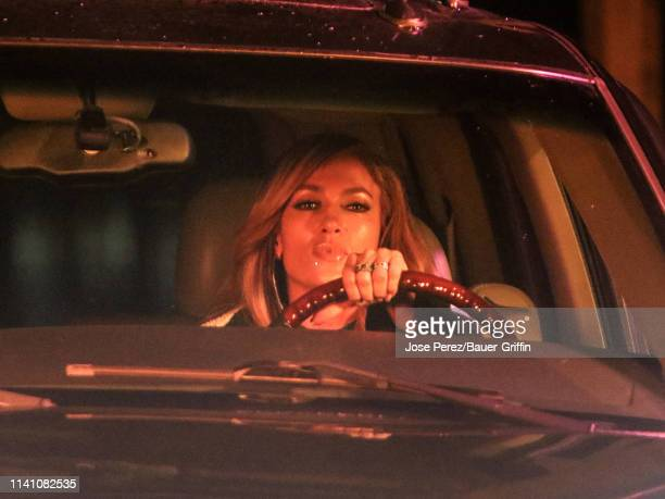 Jennifer Lopez is seen on the movie set of the 'Hustlers' on May 03 2019 in New York City