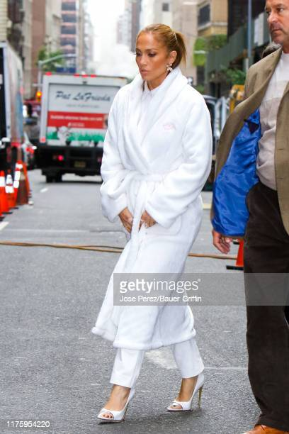 Jennifer Lopez is seen on the movie set of the 'Marry Me' at Plaza Hotel in Uptown Manhattan on October 14 2019 in New York City
